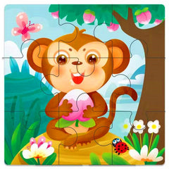 Wood 3D Puzzle Baby Cartoon Educational Toy