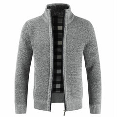 Slim Fit Stand Collar Zipper Jacket