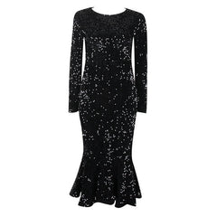 Women'S Sexy Long-Sleeved Sequins Dress