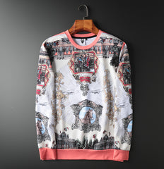 Men Hip Hop Pullover Print Sweatshirt