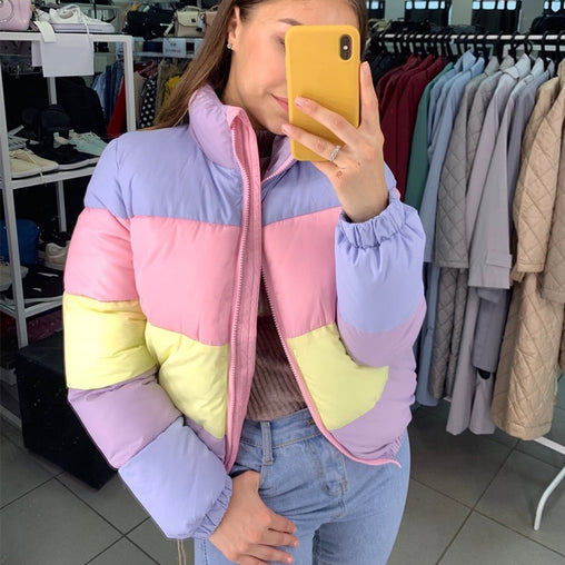 Women's Fresh Rainbow Contrast Jacket