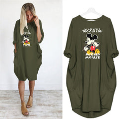 5XL Large Women's Mouse Printed Dress