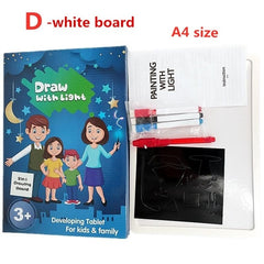LED Luminous Drawing Board Paint Learning Notebook