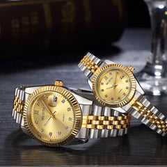 Fashion Casual Lovers Luxury Quartz Wristwatch