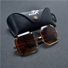 Metal Frame Square punk Style Sunglasses