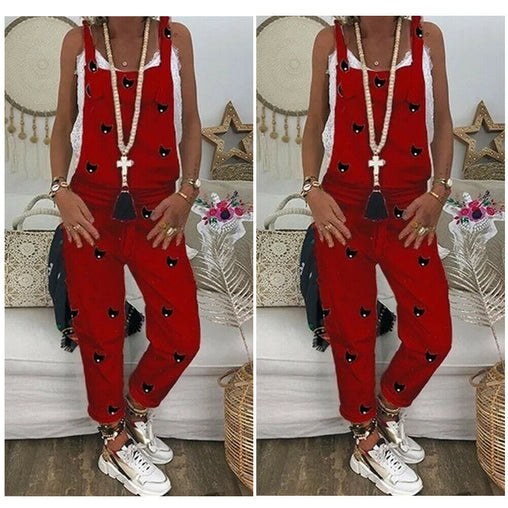 Women Long Casual Overalls Jumpsuit