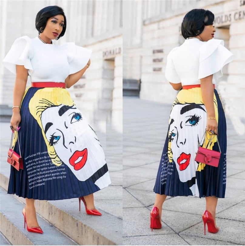 Women Fashion Gorgeous Beauty Printed Skirt