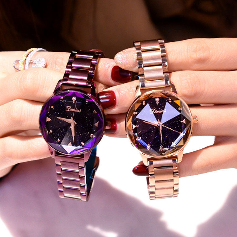 Fashion Quartz Stainless Steel Ladies Watch