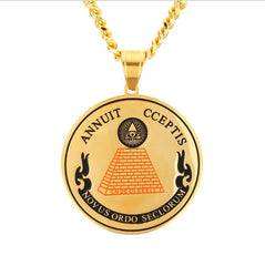 Egyptian Pyramids Symbol Pendant Necklace
