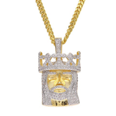 Crowned Jesus Head Necklaces & Pendants