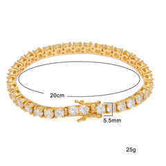 Round Cut Tennis Luxury Crystal Bracelet