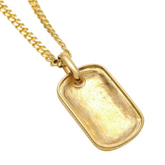 Dog Tag Pendant Cuban Chain Necklace