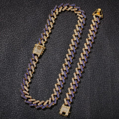 2 Row Prong Cuban Link Necklaces & Bracelets