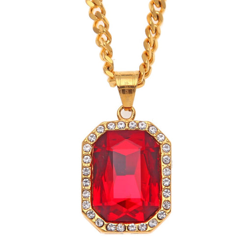 Red Gem Pendant Necklace