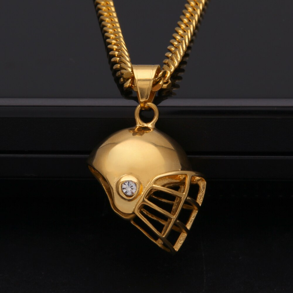 Helmet Pendant Necklace