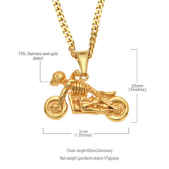 Ghost Rider Skull Motorcycle Scooter Necklaces