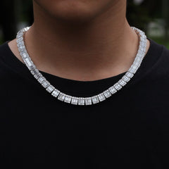 White Square Hip Hop Unisex Chain Necklaces