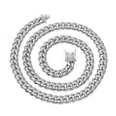 Luxury Heavy Cuban Link Chain Long Necklace