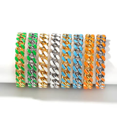 11mm Stainless Steel Colorful Unisex Bracelet