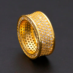 Crystal Round Punk Unisex Luxury Ring