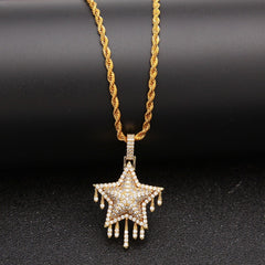 Hip Hop Star Unisex Pendant Necklace