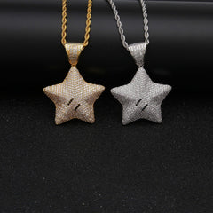 Shiny Star Rope Chain Pendant Necklace