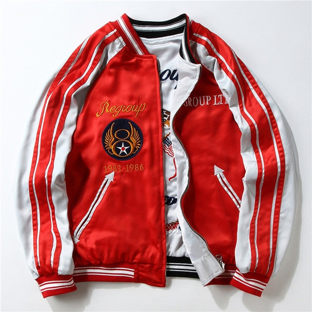 Double-Sided Embroidery Stitching Jacket