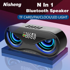 LED Flash Wireless Loudspeaker FM Radio