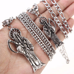 Stainless Steel Santa Angel Men's Necklace