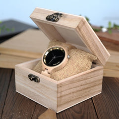 LOGO Wooden Band Exquisite Quartz Watches