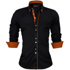 Long Sleeve British Style Cotton Men's Shirt