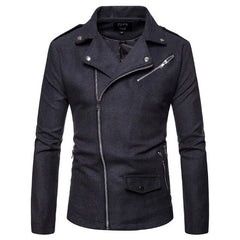 Men Casual Zippers Motorcycle Jacket