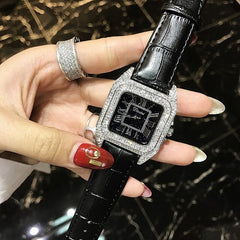 Full Diamond Roman Numeral Bracelet Watch