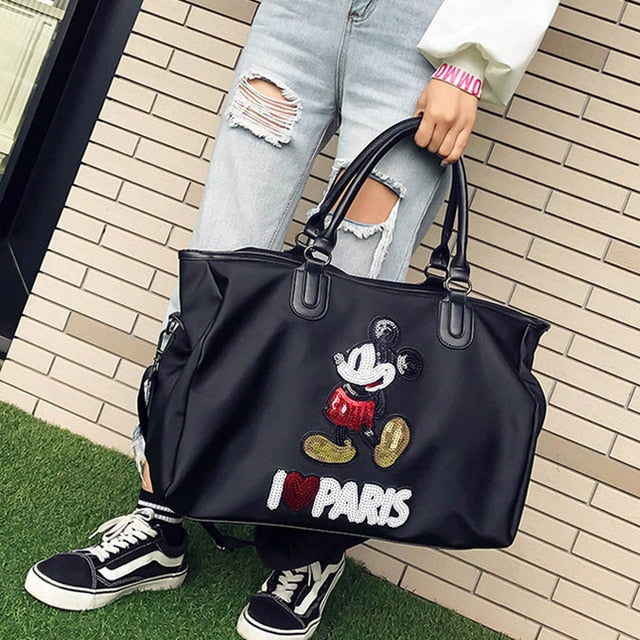 Women Mickey Shoulder High Capacity Handbag
