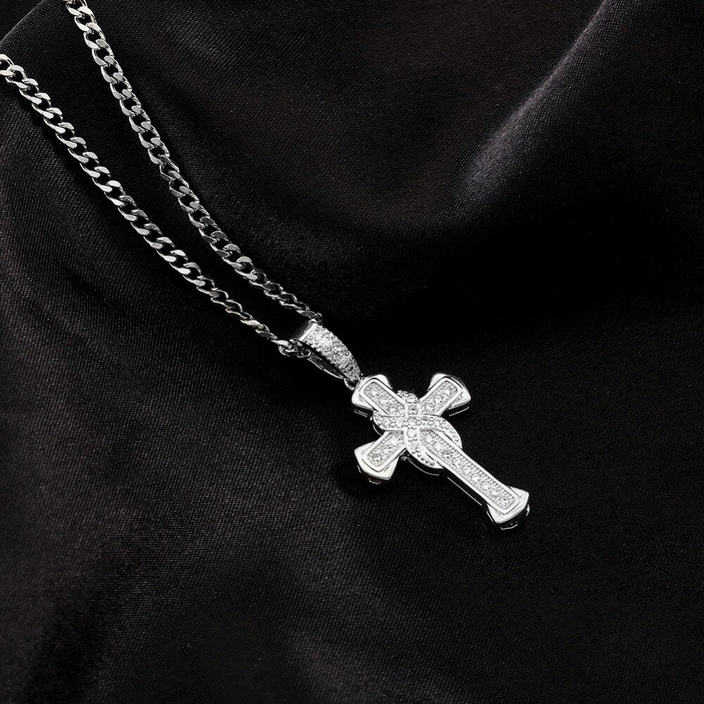 Unisex Jesus Cross Pendant Necklace
