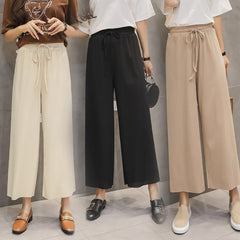 Ankle Length Casual Trouser Elastic Waist Pants