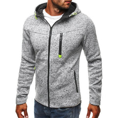 Manoswe Men Sports Casual Wear Zipper Hoodies
