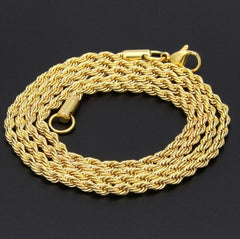 Stainless Steel Unisex Rope Chain