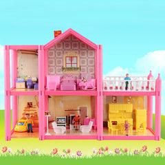 Handmade Dollhouse Castle DIY House Toy