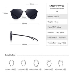 Classic Pilot Aviation Frame HD Polarized Sunglasses