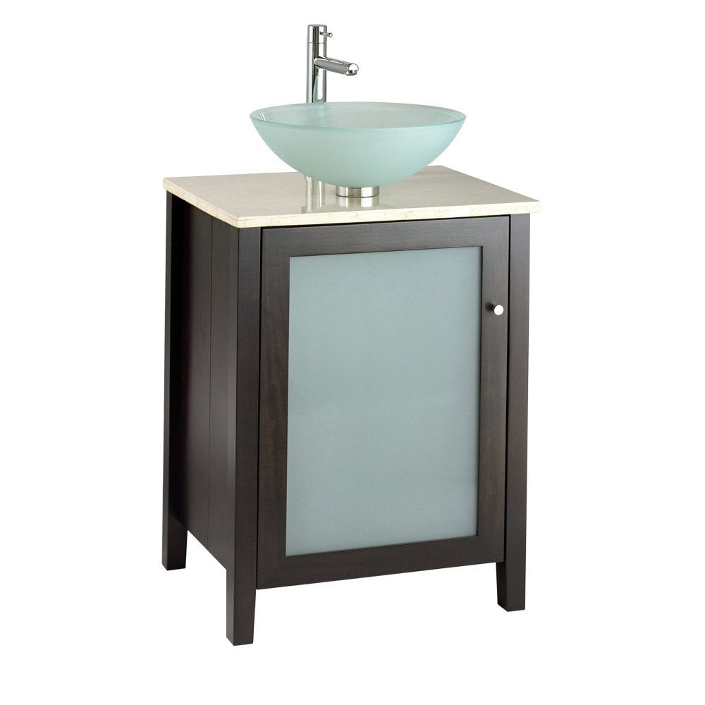 24inch modern espresso bathroom vanity top u0026 faucet not included
