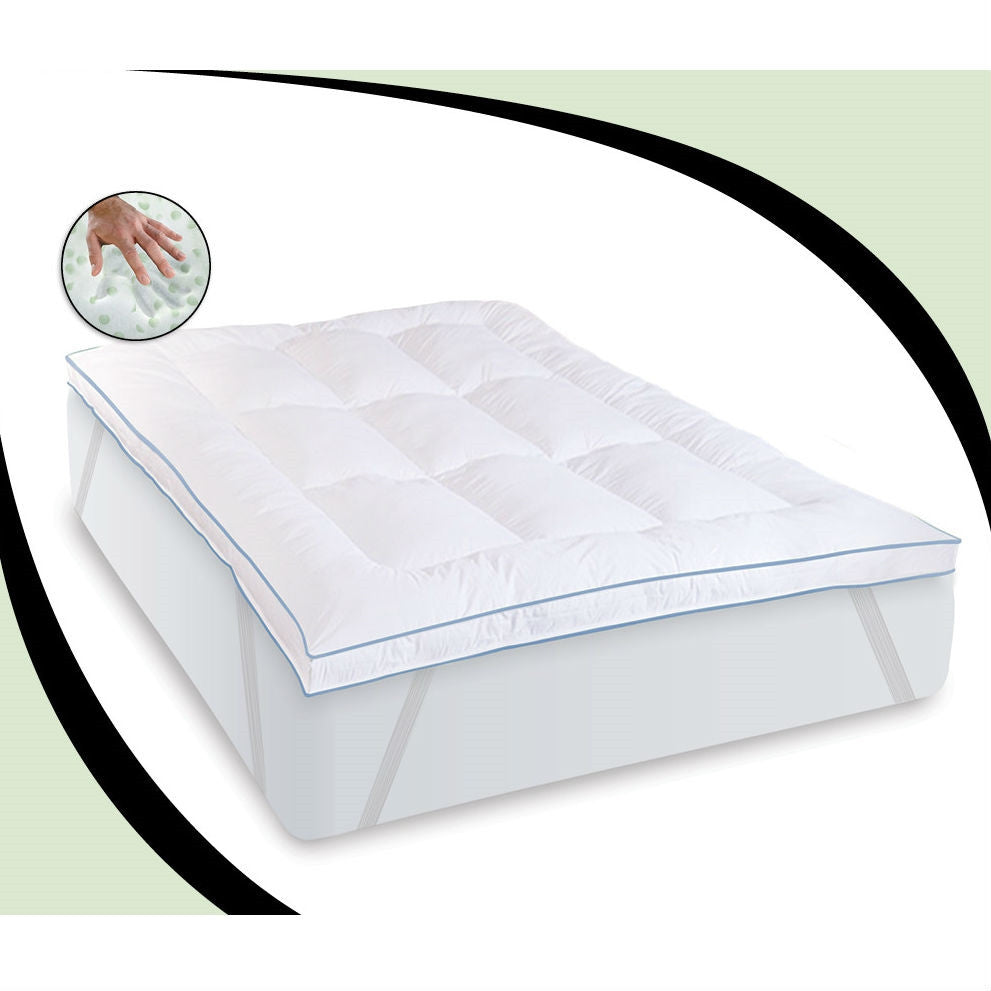 king size 3inch thick memory foam mattress topper fiber bed with anchor bands