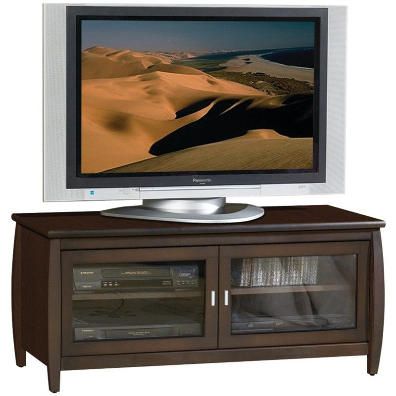 48 Inch Wide TV Stand / Entertainment Center In Walnut Finish