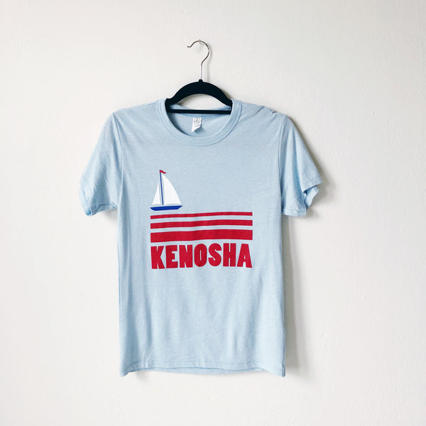 Kenosha Sailboat Tee - Blue