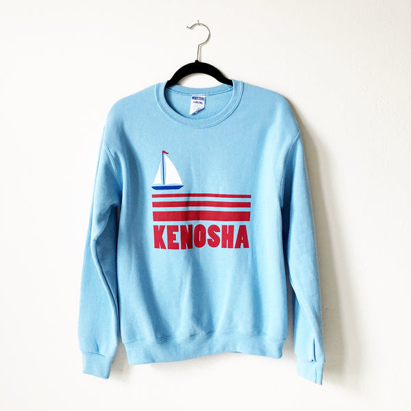Kenosha Sailboat Sweatshirt - Blue