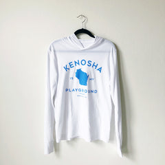 Kenosha Playground Long Sleeve Tee - White