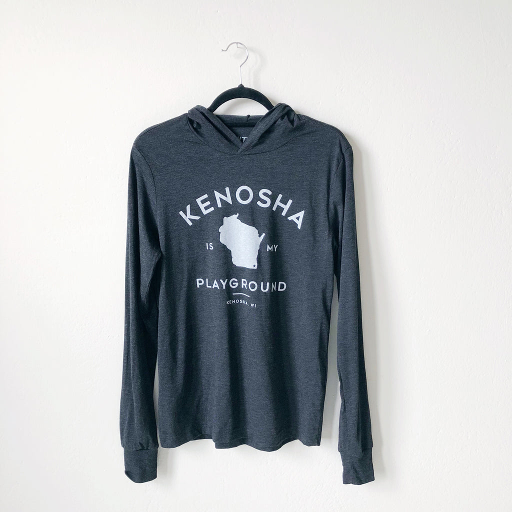 Kenosha Playground Long Sleeve Tee - Charcoal
