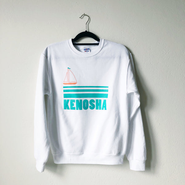 Kenosha Sailboat Sweatshirt - White