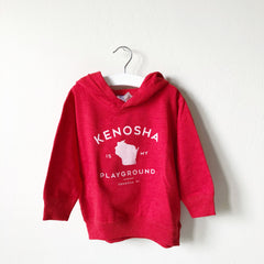 Kenosha Is My Playground Youth Hoodie - Red