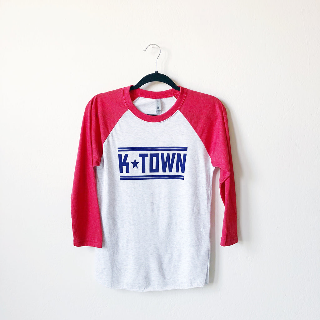 K-Town Baseball Tee - Red and Gray